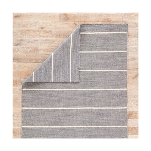 Cos Cob Stripe Wool Rug - Heathered Gray