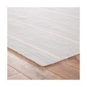 Cos Cob Stripe Wool Rug - Soft Blue