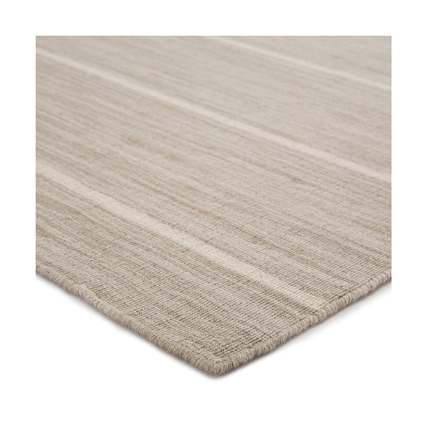 Cos Cob Stripe Wool Rug - Coastal Gray