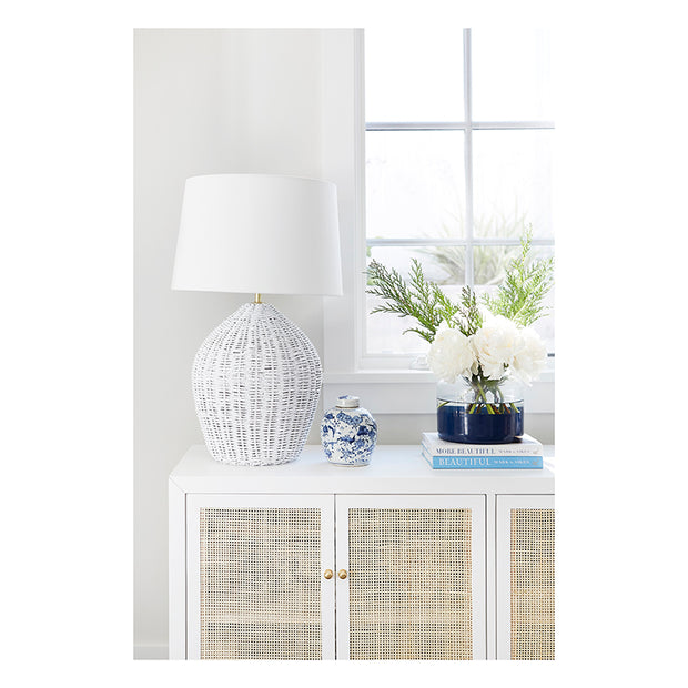 Georgian Table Lamp in White by Coastal Living