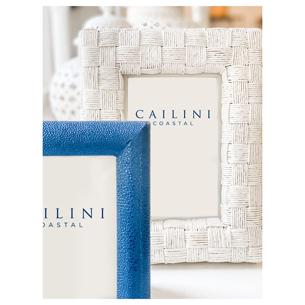 Capitola Faux Shagreen Photo Frame