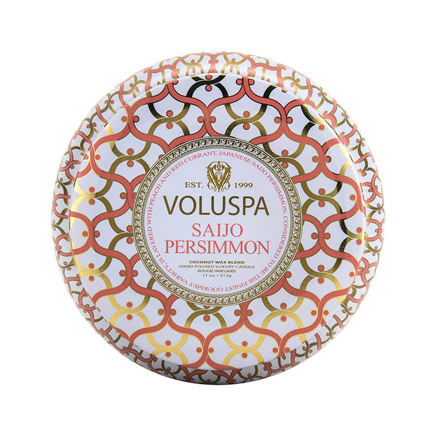 VOLUSPA Saijo Persimmon 2 Wick Maison Tin Candle