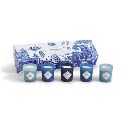 Blue Willow Votives – Set of 5