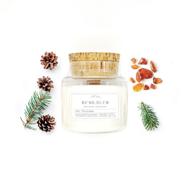 LIMITED EDITION RE'ME.DI.UM Pine & Amber Candle