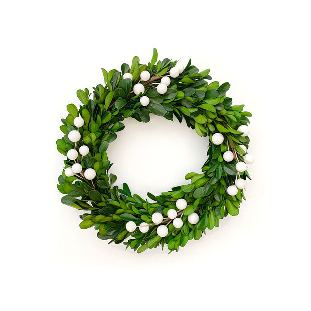 Merry Berry Boxwood Wreath - 2 Sizes