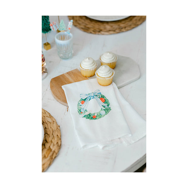 Holiday Wreath Tea Towel