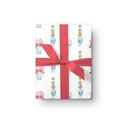 Holiday Ginger Jar Watercolor Wrapping Paper - Set of 3