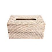 Sconset Rectangular Tissue Box Cover - White-Washed