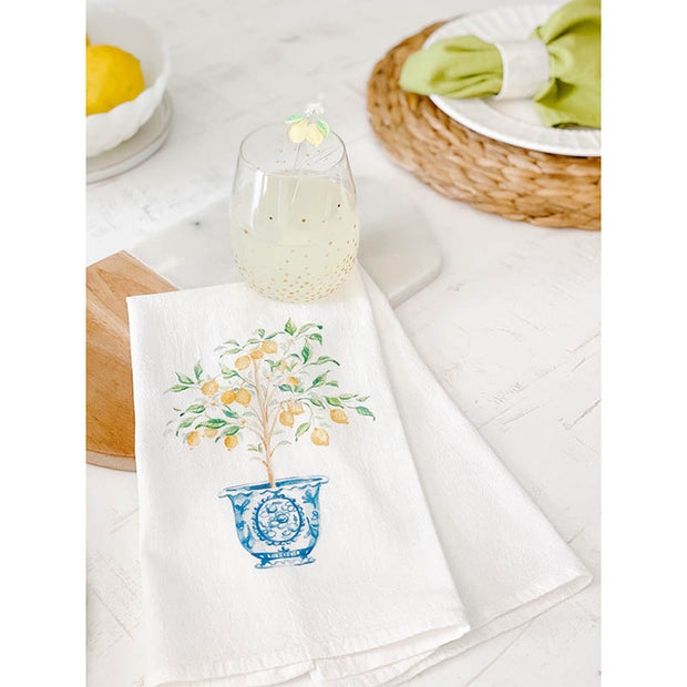 Lemon Tree Ginger Jar Tea Towel