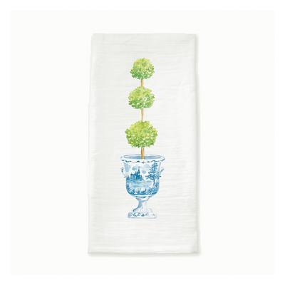 Topiary Ginger Jar Tea Towel