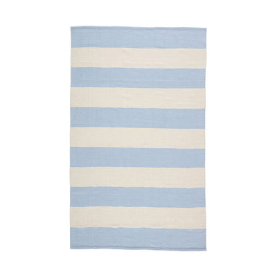 Santa Cruz Stripe Indoor/Outdoor Rug - Light Blue/White