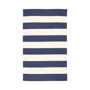 Santa Cruz Stripe Indoor/Outdoor Rug - Navy Blue/White