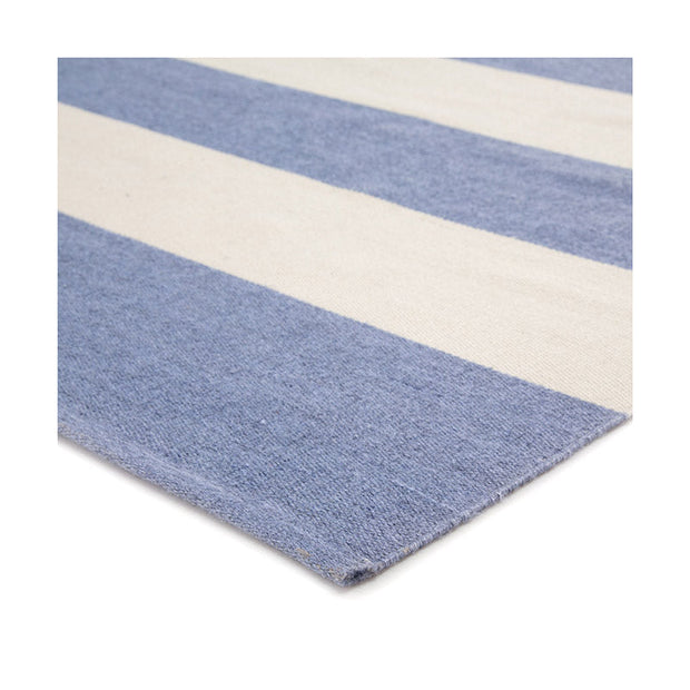 Santa Cruz Stripe Indoor/Outdoor Rug - French Blue/White