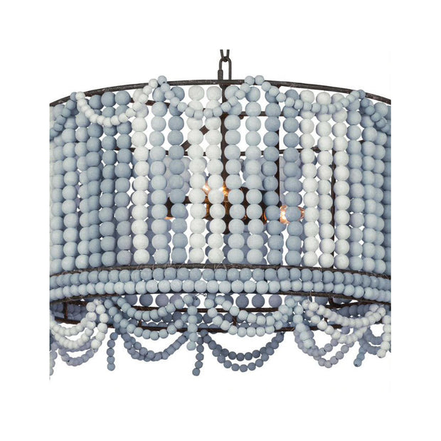 Sarasota Drum Chandelier - Blue