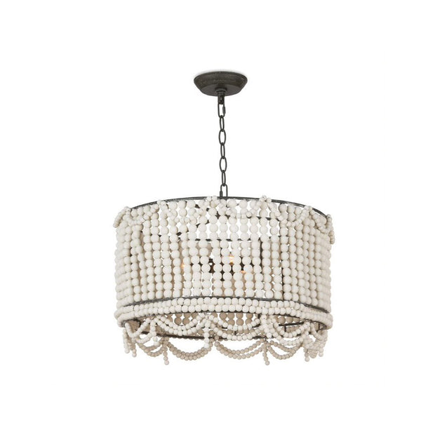 Sarasota Drum Chandelier - White