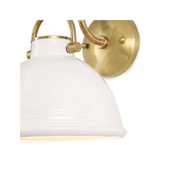 Harwich Ceramic Sconce - White