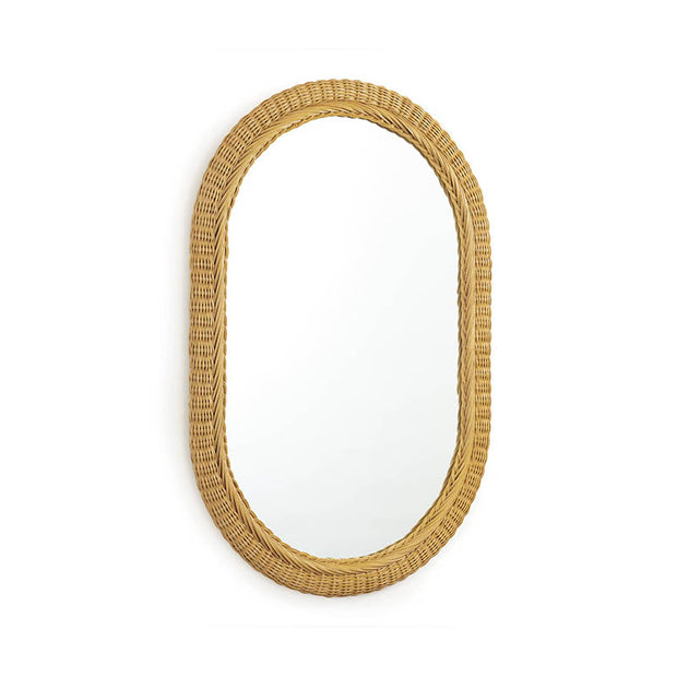 Bungalow Rattan Oval Mirror