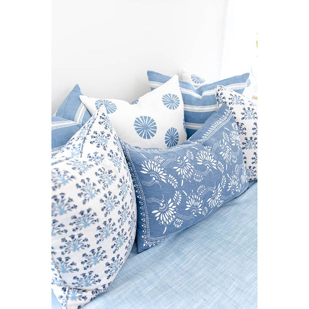 Bay Harbor Linen Pillow - French Blue