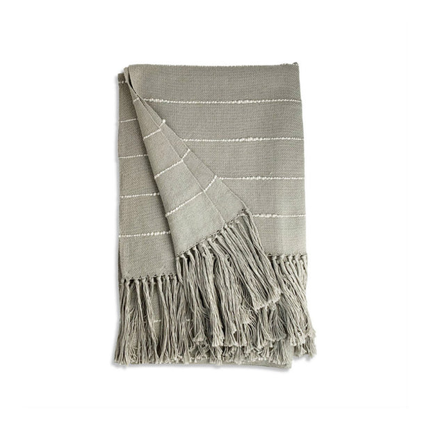 Madaket Cotton Throw Blanket - Smoke