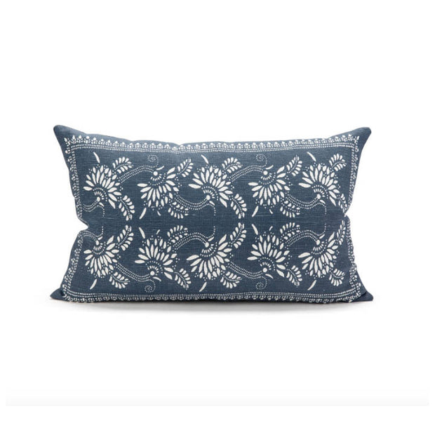 Malaga Cove Linen Pillow - Navy