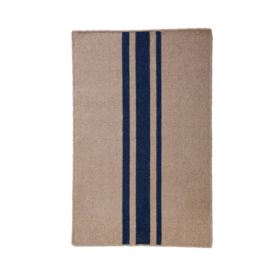 Beachwood Rug in Natural/Navy by Pom Pom at Home