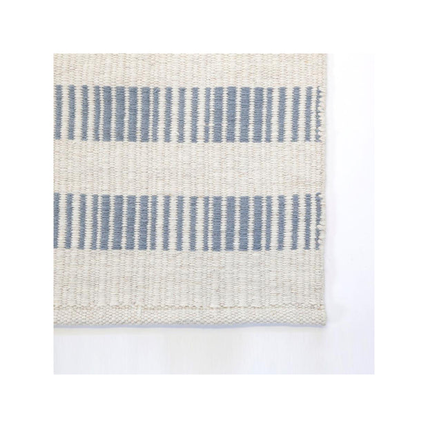 Lanikai Rug in Ivory/Nordic Blue by Pom Pom at Home
