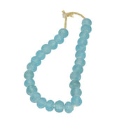 Vintage Sea Glass Beads in Aqua Blue