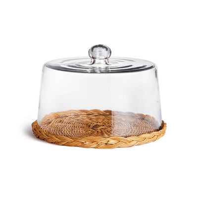Avalon Wicker Tray & Cloche