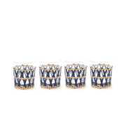 Island Wrapped Navy Lattice Bundle (Set of 5)