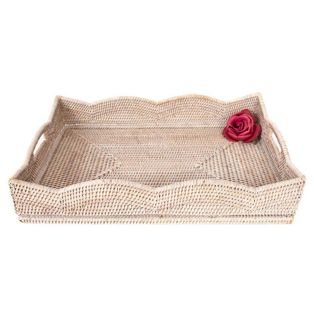 Island Scallop Tray - White-Washed