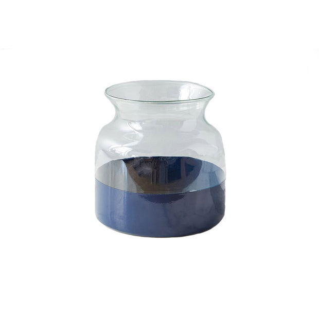 Navy Dipped Vase