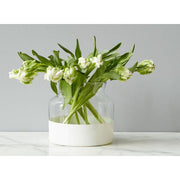 White Dipped Vase
