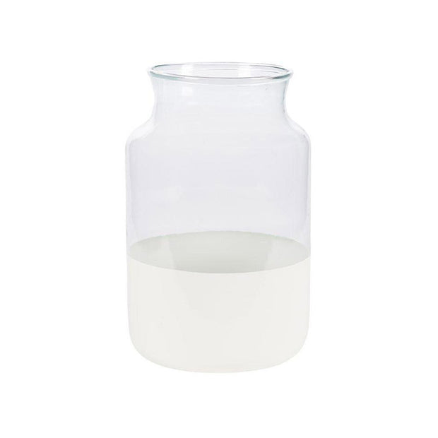 White Dipped Mason Jar