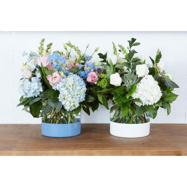 French Blue Dipped Vase