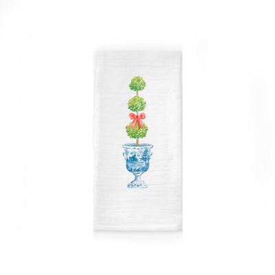 Holiday Topiary Ginger Jar Tea Towel