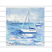 Two Sailboats Original Painting - Mini