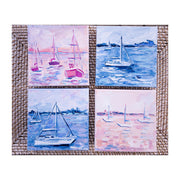 Coastal Blues & Pinks Original Painting - Mini