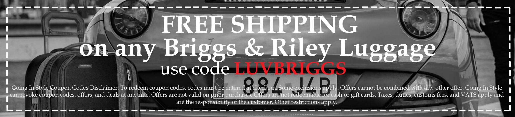 Coupon free shipping on briggs and riley luggage
