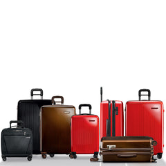 Sympatico Hardside Suitcases colors Red and Black