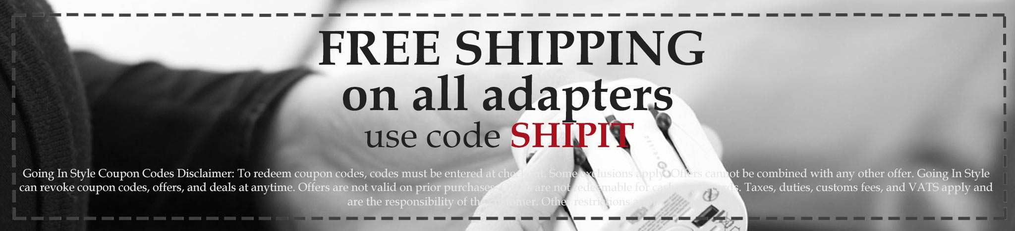 coupon free shipping on adapters