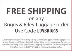 Free Shipping on Briggs and Riley Luggage