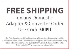 Free Shipping Going In Style Adapters and Converters Coupon Code