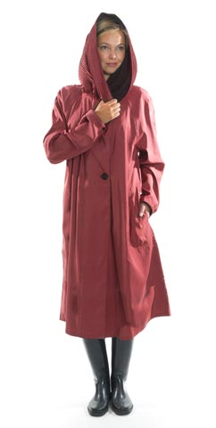 Tea Red Mycra Pac Raincoat United Kingdom