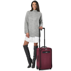 Briggs & Riley Carry On Luggage color Merlot