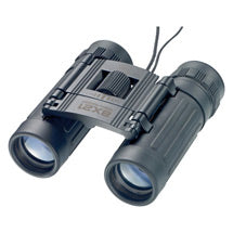 Travel binoculars black with neck cord