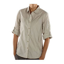 Ex Officio tan travel shirt with buttons