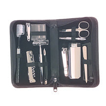 Nail Grooming Kit for Travel with clippers, scissors, tweezers