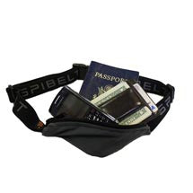 Secure money belt with passport and phone