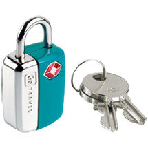 blue luggage lock with tsa approved keys