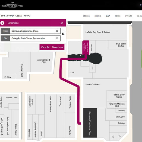 Directions from Samsung to Going In Style Map